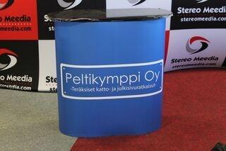 Pieni esittelypöytä Peltikymppu Oy