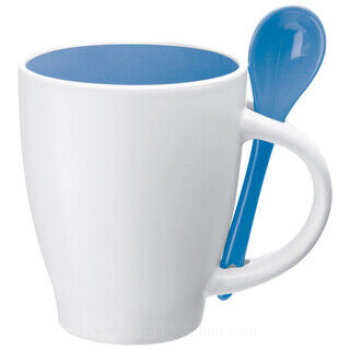 Ceramic cup with a spoon